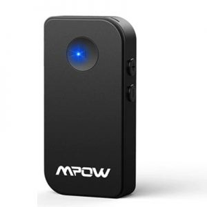 Mpow 4.1 Bluetooth Receiver Portable Car Adapter Music Audio Wireless Car Kits 3.5mm