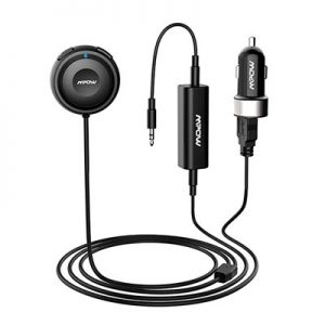 Mpow MBR2 Bluetooth Car Kit–Bluetooth Receiver Steamboat with Car Charger