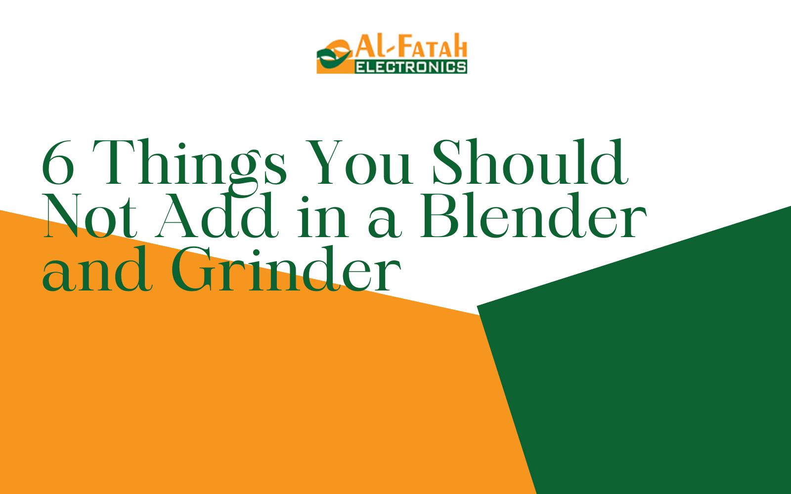 Grinder and blender